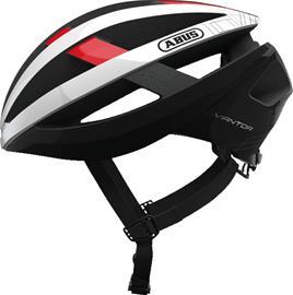 ABUS Viantor Pyöräilykypärä , punainen/valkoinen