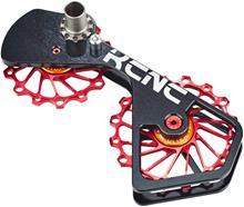 KCNC Jockey Wheel System SUS Shimano 10S / 11S 14 + 16 hammasta :een , punainen