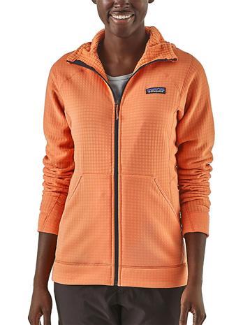 Patagonia R1 Hooded Fleece Jacket peach sherbet Naiset