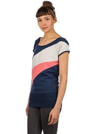 Kazane Tuva T-Shirt dress blue / oatmeal heathe Naiset
