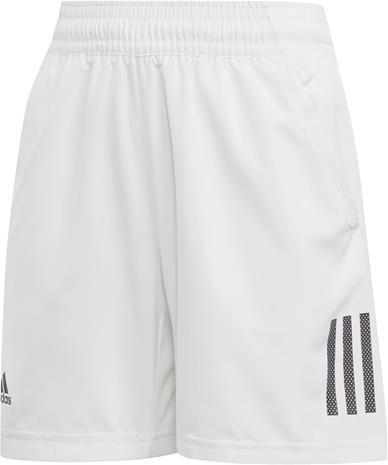 Adidas Boys Club 3-Stripes Shortsit, White 128