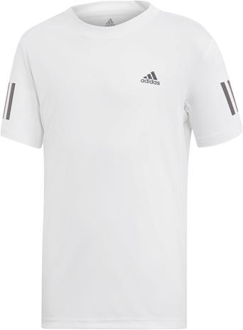 Adidas Boys Club 3-Stripes T-Paita Treenipaita, White 140