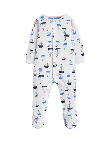 Tom Joule Jumpsuit, White Drawn Boats 6-9 kk