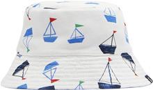 Tom Joule Käännettävä Hattu, White Drawn Boats 0-6 kk