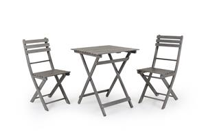 Brafab Bruton, kahvilapöytä ja kaksi tuolia