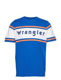 Wrangler Clrblock Logo Tee Sininen