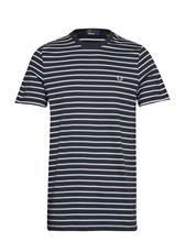 Fred Perry Stripe T-Shirt Sininen