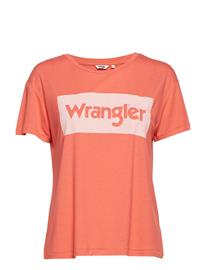Wrangler Drape Tee Oranssi