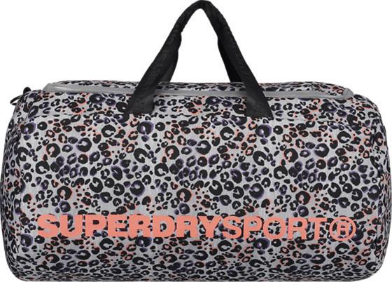 Superdry SPORT BARREL BAG LOLA LEOPARD CORAL