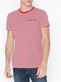 Selected Homme Slhtim Ss O-Neck Tee W T-paidat ja topit Punainen