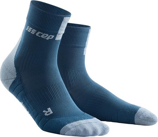 cep Short Socks 3.0 Miehet juoksusukat , harmaa/sininen