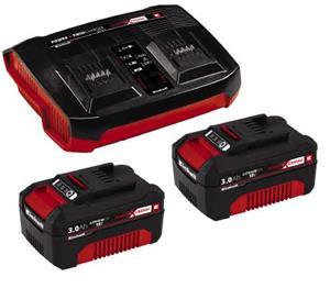 Einhell PXC Starter Kit 2x3,0Ah & Twincharger Kit (4512083) 18V, työkaluakku ja laturi