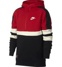 Nike J NK AIR HOODIE HZ RED/BLACK