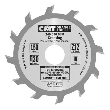 Katkaisuterä puulle CMT 240.020.06R; d=150 mm