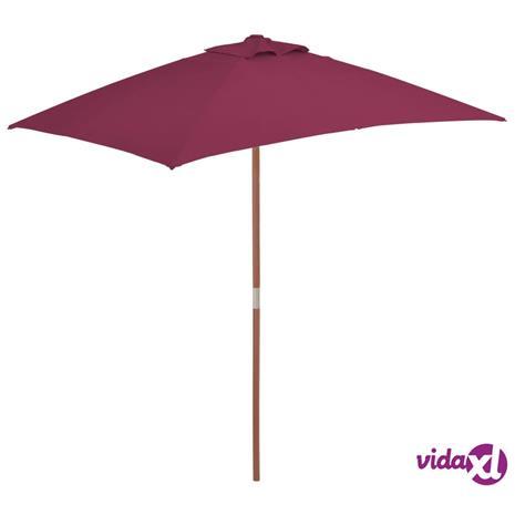 vidaXL Aurinkovarjo puurunko 150x200 cm viininpunainen