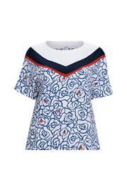 """La Redoute"""" """"Kukallinen paita, jossa pyöreä pääntie ja lyhyet hihat"""