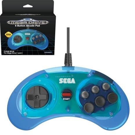 Retro-Bit SEGA Mega Drive 6-button Arcade USB Pad, peliohjain