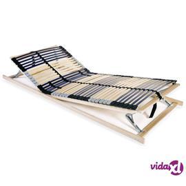 vidaXL Sängyn sälepohja 42 säleellä 7 vyöhykettä 80x200 cm FSC