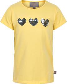 Creamie Hearts Sequin T-paita, French Vanilla 116, Lastenvaatteet