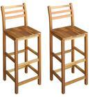 vidaXL Baarijakkarat 2 kpl kiinteä akaasiapuu 42x36x110 cm, Ruokapöydät ja -tuolit
