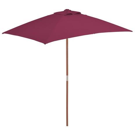 vidaXL Aurinkovarjo puurunko 150x200 cm viininpunainen, Kalustus- ja somistustarvikkeet