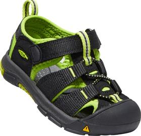 KEEN Newport H2 Toddlers Sandaalit, Black/Lime Green 22