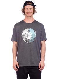 Element Rotation T-Shirt charcoal heathe Miehet