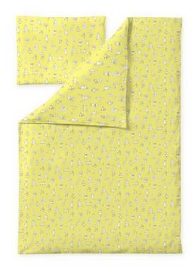 Finlayson lasten lakanasetti Muumiystävät Keltainen, 120x160cm