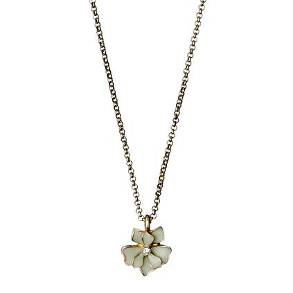 Pilgrim Sweetie Necklace 40 cm, Gold/Green