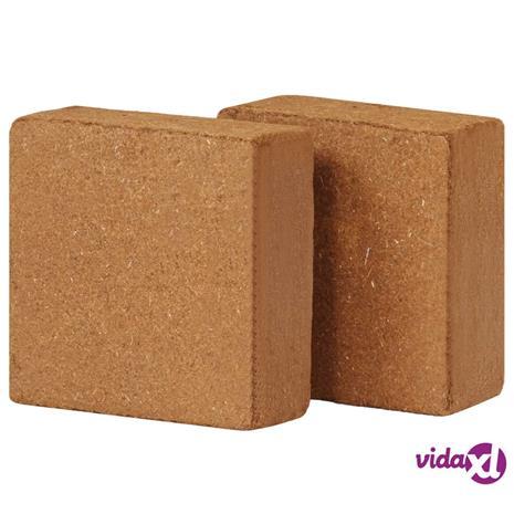 vidaXL Kookoskuitubriketti 2 kpl 5 kg 30x30x10 cm