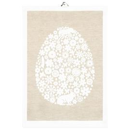 Ekelund Linneväveri Pääsiäismuna keittiöpyyhe 50x70 cm Beige