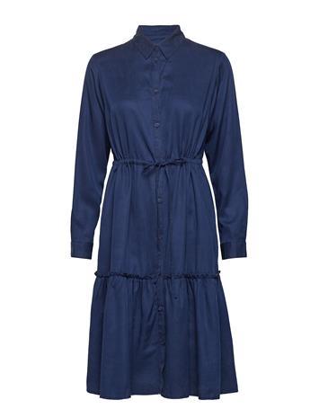 French Connection Floreta Drape Tiered Shirt Dress Sininen
