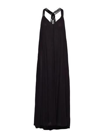 Superdry Carissa Macrame Maxi Dress Musta