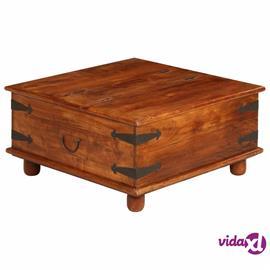 vidaXL Sohvapöytä kiinteä akaasiapuu seesampinnalla 80x80x40 cm