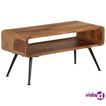 vidaXL Sohvapöytä kiinteä seesampuu 95x40x45 cm