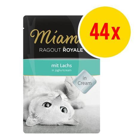 Miamor Ragout Royale in Cream -säästöpakkaus 44 x 100g - vasikkaa tomaattikermakastikkeessa