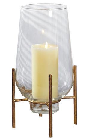 Maljakko / Lantern-messinki 32cm metallivalo