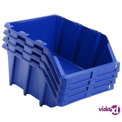 vidaXL Pinottavat säilytyslokerot 15 kpl 310x490x195 mm sininen