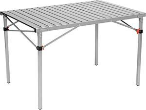 CAMPZ Aluminium Rolltisch Retkeilypöytä 107 x 70 x 70cm , harmaa/musta