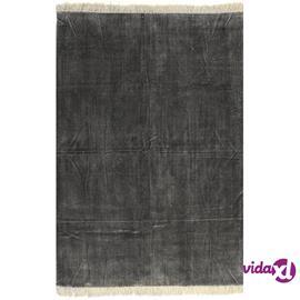vidaXL Kilim matto puuvilla 120x180 cm antrasiitti