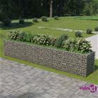 vidaXL Kivikori/kukkalaatikkokehys galvanoitu teräs 540x90x100 cm