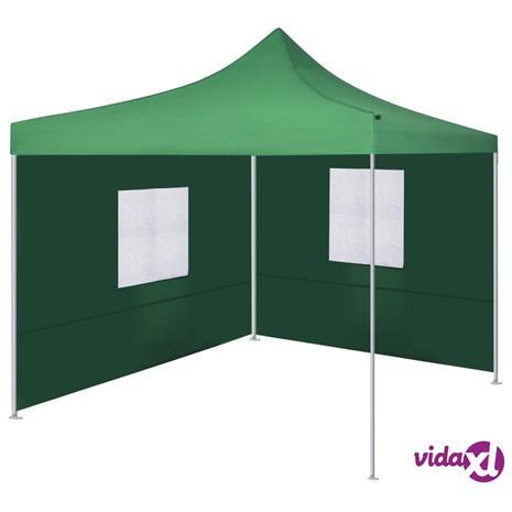 vidaXL kokoontaitettava teltta 2:lla seinällä 3x3 m vihreä