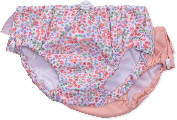 Petite Chérie Atelier Abelia Uimavaippa 2-pack, Pink/Flowers 86-92
