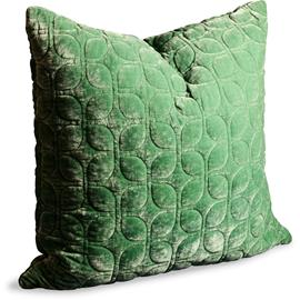 Dirty Linen Webster Cushion Cover 60x60 cm, Rocket Greens