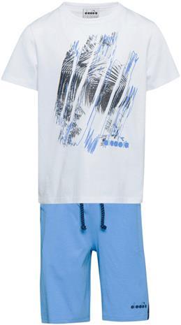 Diadora Setti T-Paita & Shortsit, Optical White XL