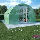 vidaXL Kasvihuone teräksisillä perustuksilla 9m² 300x300x200 cm
