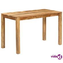 vidaXL Ruokapöytä kiinteä mangopuu 120x60x76 cm