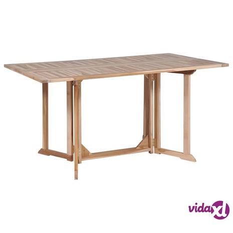 vidaXL Kokoontaittuva perhosruokapöytä kiinteä tiikki 150x90x75 cm