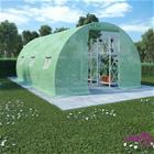 vidaXL Kasvihuone teräksisillä perustuksilla 13,5m² 450x300x200 cm