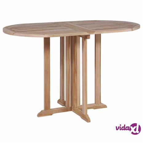 vidaXL Kokoontaittettava ruokapöytä tiikki 120x70x75 cm